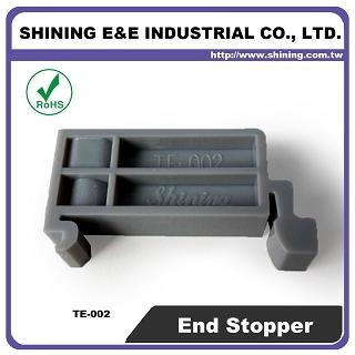TE-002 Plastic End Stopper For 35mm Din Mounting Rail - TE-002 35mm Plastic End Stopper