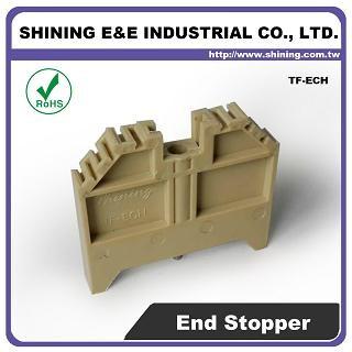 Plastová koncová svorka TF-ECH na 35 mm montážnu lištu Din - Plastová koncová svorka TF-ECH 35 mm
