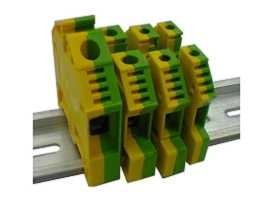 TF-G Series Din Rail Mounted Feed Through Ground Earthing Terminal Blocks - TF-G Series Feed Through Ground Terminal Blocks