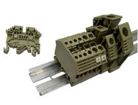TF Seires Din Rail Mount Feed Through Block Screw Terminal Clamp - Suapan Siri TF Melalui Blok Terminal Pengapit Skru