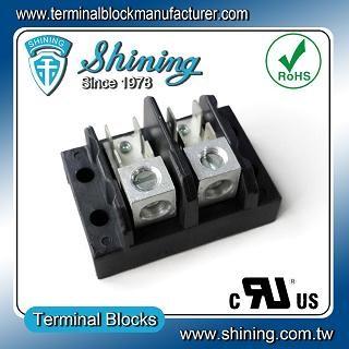 TGP-050-02A1 600V 50A 2 Pole Electrical Power Terminal Block - TGP-050-02A1 Power Terminal Block