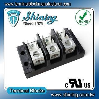 TGP-050-03A1 600V 50A 3 Pole Electrical Power Terminal Block - TGP-050-03A1 Power Terminal Block