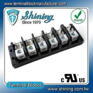 TGP-050-06A1 600V 50A 6 Pole Electrical Power Terminal Block - TGP-050-06A1 Power Terminal Block