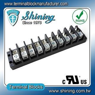 TGP-050-10A1 600V 50A 10 Pole Electrical Power Terminal Block - TGP-050-10A1 Power Terminal Block