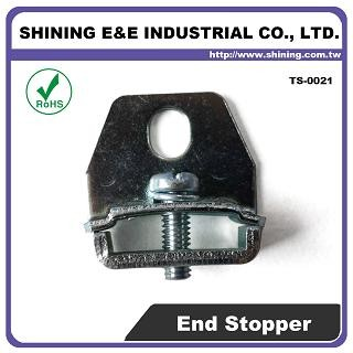 TS-0021 Steel End Bracket For 25mm Din Mounting Rail - TS-0021 25mm Steel End Bracket