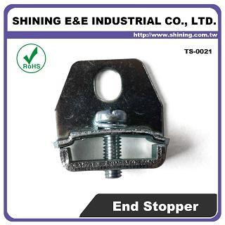 TS-0021 Oceľová koncová konzola pre 25 mm montážnu lištu Din - TS-0021 25 mm oceľový koncový držiak