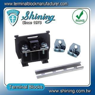 TS-015 25 мм Din касета с монтиране на релси тип 600V 15A клема