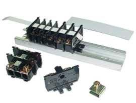 Koncový konektor kazetového typu montovaného na lištu DIN, 25 mm - Svorkovnice kazetového typu 25 mm montované na lištu TS