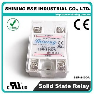 SSR-S10DA DC to AC 10A 280VAC Single Phase Solid State Relay