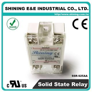 SSR-S25AA AC to AC 25A 280VAC Single Phase Solid State Relay