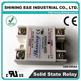 SSR-S40AA AC to AC 40A 280VAC Single Phase Solid State Relay