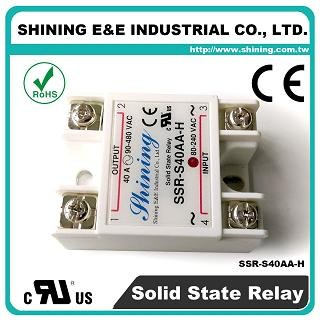 SSR-S40AA-H AC to AC 40A 480VAC Single Phase Solid State Relay