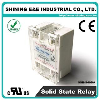 SSR-S40DA DC to AC 40A 280VAC Single Phase Solid State Relay