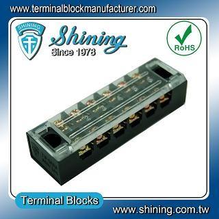 Panel TB-1506 dipasang Barrier tetap 15A 6 Blok Terminal Pole
