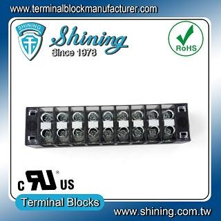 TB-31509CP Fixed Type 300V 15A 9 Position Barrier Terminal Strip - TB-31509CP Fixed Barrier Terminal Strips