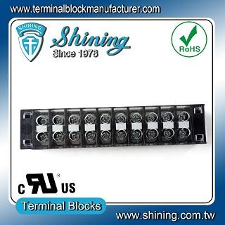 TB-31510CP Fixed Type 300V 15A 10 Position Barrier Terminal Strip - TB-31510CP Fixed Barrier Terminal Strips