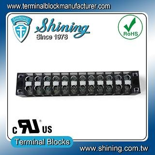 TB-31512CP Fixed Type 300V 15A 12 Position Barrier Terminal Strip - TB-31512CP Fixed Barrier Terminal Strips