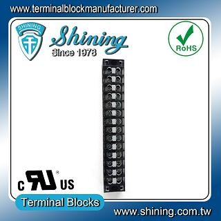TB-31514CP Fixed Type 300V 15A 14 Position Barrier Terminal Strip - TB-31514CP Fixed Barrier Terminal Strips