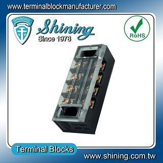 Panel TB-3504 dipasang Barrier tetap 35A 4 Blok Terminal Pole