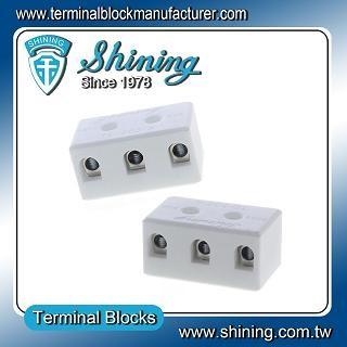 TC-503-A Panel Mounted 600V 50A 3 Pole Ceramic Terminal Block - TC-503-A 50A 3 Pole Ceramic Terminal Block