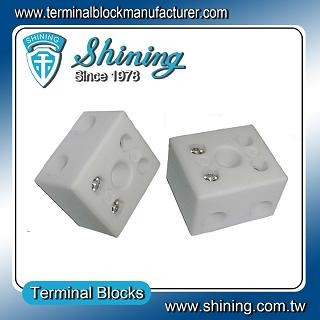 TC-652-A Panel Mounted 600V 65A 2 Pole Ceramic Terminal Block - TC-652-A 65A 2 Pole Ceramic Terminal Block