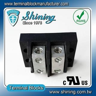 TGP-050-02BSS 600V 50A 2 Way Power Splicer Terminal Block - TGP-050-02BSS Power Splicer Terminal Block