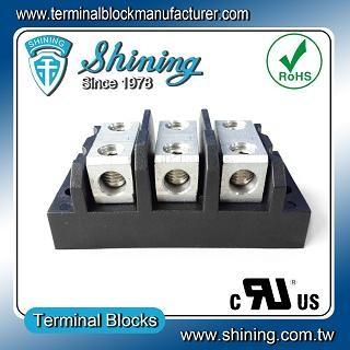 TGP-050-03BHH 600V 50A 3 Way Power Splicer Terminal Block - TGP-050-03BHH Power Splicer Terminal Block