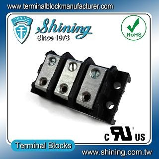 TGP-050-03BHS 600V 50A 3 Way Power Splicer Terminal Block - Blok Terminal Splicer TGP-050-03BHS