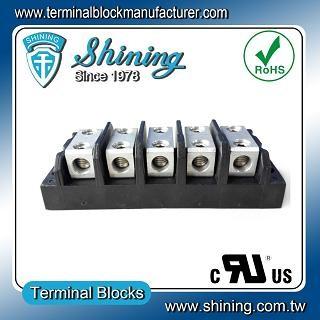 TGP-050-05BHH 600V 50A 5 Way Power Splicer Terminal Block - TGP-050-05BHH Power Splicer Terminal Block