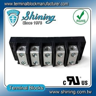 TGP-050-05BSS 600V 50A 5 Way Power Splicer Terminal Block - TGP-050-05BSS Power Splicer Terminal Block