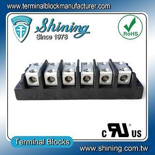 TGP-050-06BHH 600V 50A 6 Way Power Splicer Terminal Block - TGP-050-06BHH Power Splicer Terminal Block