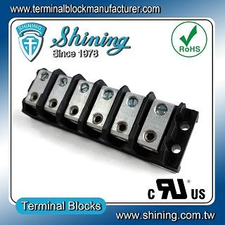 TGP-050-06BHS 600V 50A 6 Way Power Splicer Terminal Block - Blok Terminal Splicer TGP-050-06BHS