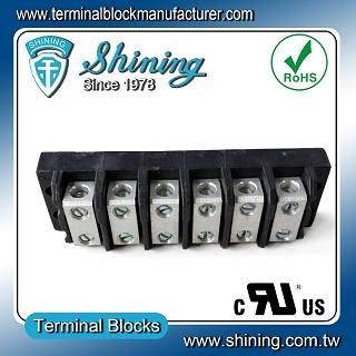 TGP-050-06BSS 600V 50A 6 Way Power Splicer Terminal Block - TGP-050-06BSS Power Splicer Terminal Block