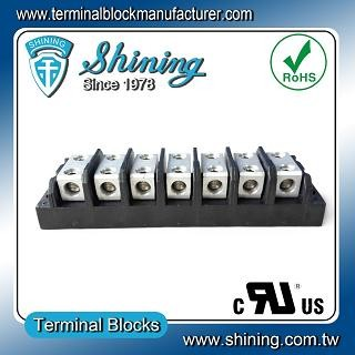 TGP-050-07BHH 600V 50A 7 Way Power Splicer Terminal Block - TGP-050-07BHH Power Splicer Terminal Block
