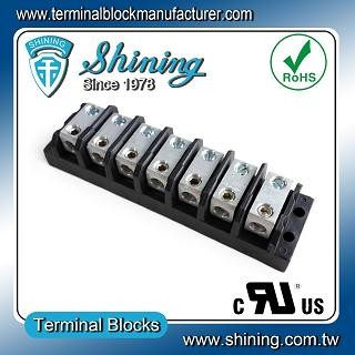 TGP-050-07BHS 600V 50A 7 Way Power Splicer Terminal Block - Blok Terminal Splicer Kuasa TGP-050-07BHS