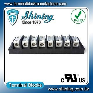 TGP-050-08BHH 600V 50A 8 Way Power Splicer Terminal Block - TGP-050-08BHH Power Splicer Terminal Block
