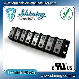 TGP-050-08BHS 600V 50A 8 Way Power Splicer Terminal Block - Blok Terminal Splicer Kuasa TGP-050-08BHS