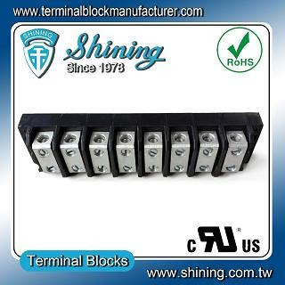 TGP-050-08BSS 600V 50A 8 Way Power Splicer Terminal Block - TGP-050-08BSS Power Splicer Terminal Block