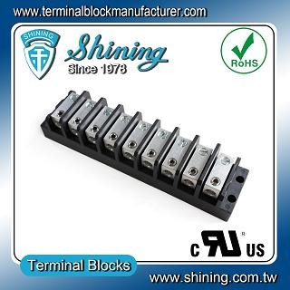 TGP-050-09BHS 600V 50A 9 Way Power Splicer Terminal Block - Blok Terminal Splicer Kuasa TGP-050-09BHS