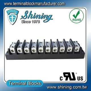 TGP-050-10BHH 600V 50A 10 Way Power Splicer Terminal Block - TGP-050-10BHH Power Splicer Terminal Block