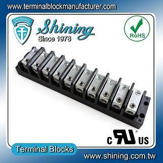 TGP-050-10BHS 600V 50A 10 Way Power Splicer Terminal Block - Blok Terminal Splicer Kuasa TGP-050-10BHS