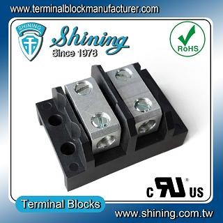 TGP-085-02BSS 600V 85A 2 Way Power Splicer Terminal Block - TGP-085-02BSS Power Splicer Terminal Block
