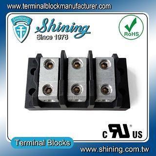 TGP-085-03BHH 600V 85A 3 Way Power Splicer Terminal Block - Blok Terminal Splicer TGP-085-03BHH