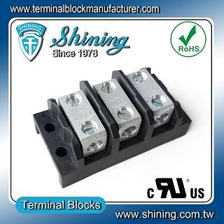 TGP-085-03BSS 600V 85A 3 Way Power Splicer Terminal Block - TGP-085-03BSS Power Splicer Terminal Block