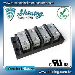 TGP-085-04BSS 600V 85A 4 Way Power Splicer Terminal Block - TGP-085-04BSS Power Splicer Terminal Block