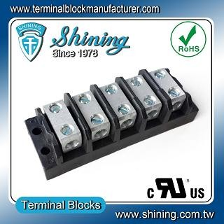 TGP-085-05BSS 600V 85A 5 Way Power Splicer Terminal Block - TGP-085-05BSS Power Splicer Terminal Block