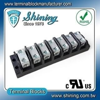 TGP-085-07BSS 600V 85A 7 Way Power Splicer Terminal Block - TGP-085-07BSS Power Splicer Terminal Block