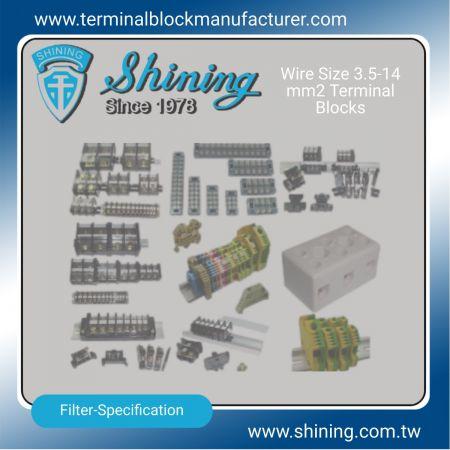 Svorkovnice 3,5-14 mm2 - Svorkovnice 3,5-14 mm2 | Polovodičové relé | Držiak poistky | Izolátory -SHINING E&E