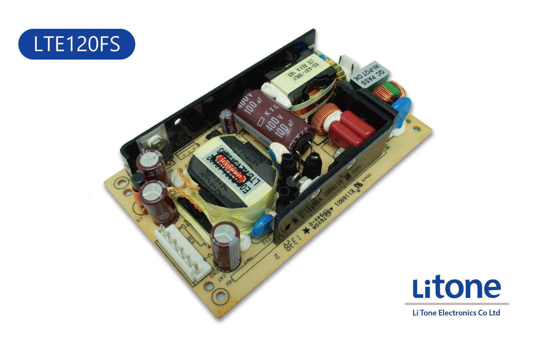 120W AC to DC Open Frame Power Supply