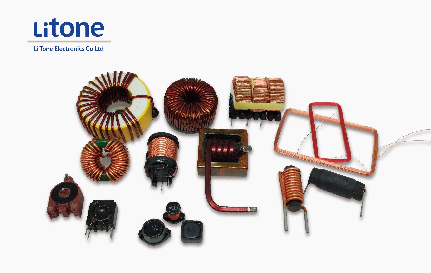 Inductor de potencia en varios tipos